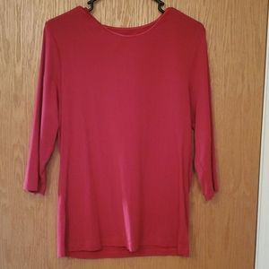 Christopher Banks l red 3/4 sleeve knit top